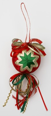 Free Fabric Christmas Ornament, Learn To Make Folded Fabric Star